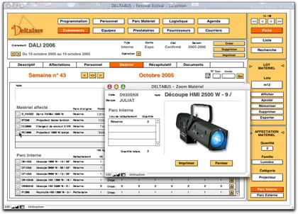 Deltabus logiciel de gestion de production de spectacle for Fournisseur materiel restauration rapide